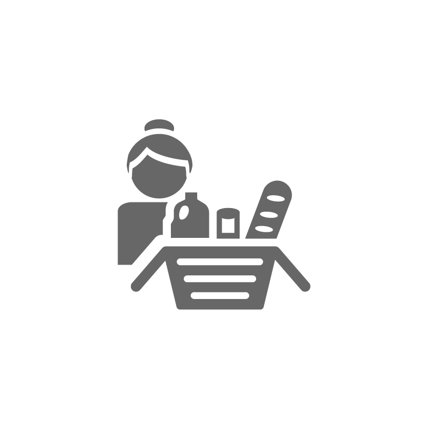 person-with-shopping-basket-icon